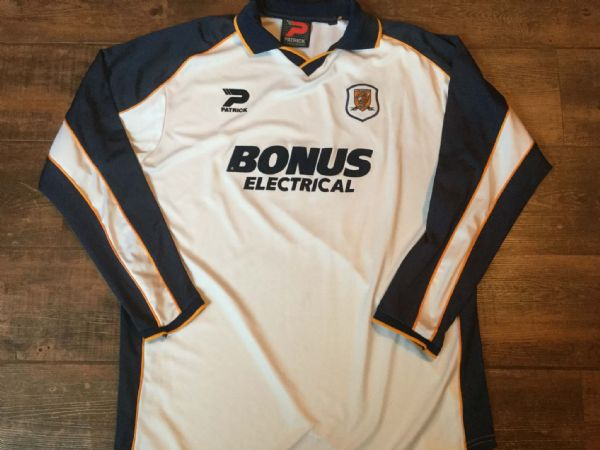 2002 2004 Hull City L/s Away Football Shirt Adults XL